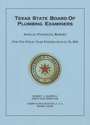 Primary view of object titled 'Texas State Board of Plumbing Examiners Annual Financial Report: 2011'.