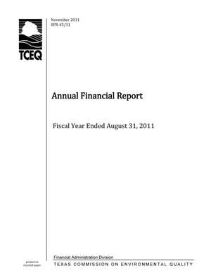 Annual Financial Report, Fiscal Year ended August 31, 2011