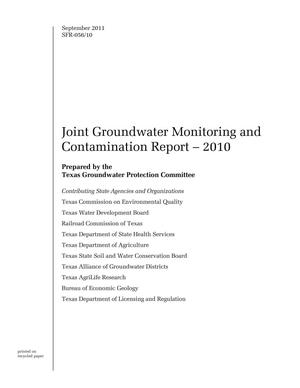 Primary view of object titled 'Joint Groundwater Monitoring and Contamination Report: 2010'.