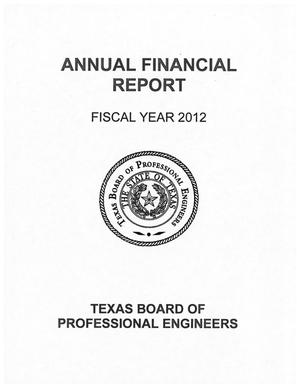 Primary view of object titled 'Texas Board of Professional Engineers Annual Financial Report: 2012'.