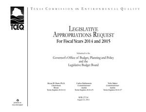 Primary view of object titled 'Legislative Appropriations Request for fiscal years 2014 and 2015'.