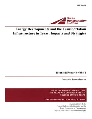 Primary view of object titled 'Energy developments and the transportation infrastructure in Texas'.
