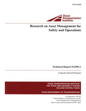 Primary view of object titled 'Research on asset management for safety and operations'.