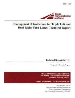 Primary view of object titled 'Development of guidelines for triple left and dual right-turn lanes :  technical report'.
