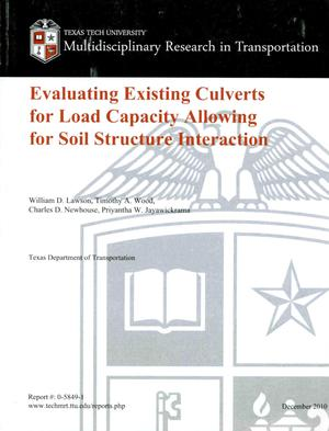 Primary view of object titled 'Evaluating existing culverts for load capacity allowing for soil structure interaction'.