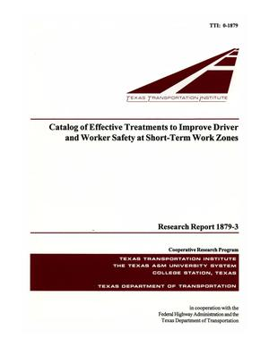 Primary view of Catalog of effective treatments to improve driver and worker safety at short-term work zones