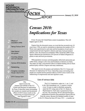 Primary view of object titled 'Focus Report, Volume 81, Number 10, January 21, 2010'.