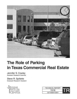 Primary view of object titled 'The Role of Parking in Texas Commercial Real Estate'.
