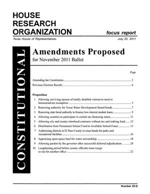 Primary view of object titled 'Focus Report, Volume 82, Number 6, July 20, 2011'.