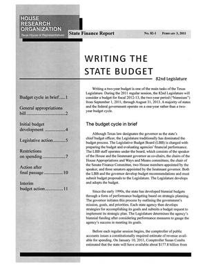 Primary view of object titled 'Texas State Finance Report, Volume 82, Number 1, February 3, 2011'.