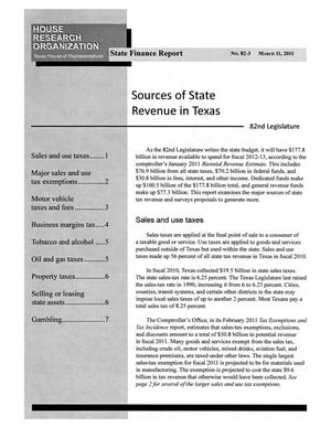 Primary view of object titled 'Texas State Finance Report, Volume 82, Number 3, March 11, 2011'.