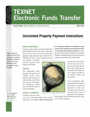 Primary view of object titled 'TEXNET Electronic Funds Transfer, July 2011'.