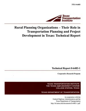 Primary view of object titled 'Rural planning organizations, their role in transportation planning and project development in Texas :  technical report'.