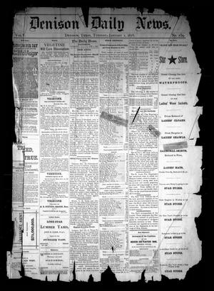 Primary view of object titled 'Denison Daily News. (Denison, Tex.), Vol. 5, No. 259, Ed. 1 Tuesday, January 1, 1878'.