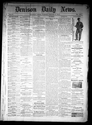 Primary view of object titled 'Denison Daily News. (Denison, Tex.), Vol. 5, No. 265, Ed. 1 Tuesday, January 8, 1878'.