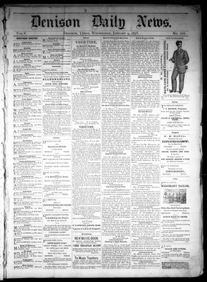 Primary view of object titled 'Denison Daily News. (Denison, Tex.), Vol. 5, No. 266, Ed. 1 Wednesday, January 9, 1878'.