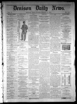 Primary view of object titled 'Denison Daily News. (Denison, Tex.), Vol. 5, No. 270, Ed. 1 Sunday, January 13, 1878'.