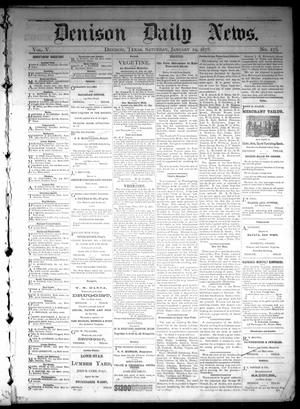 Primary view of object titled 'Denison Daily News. (Denison, Tex.), Vol. 5, No. 275, Ed. 1 Saturday, January 19, 1878'.