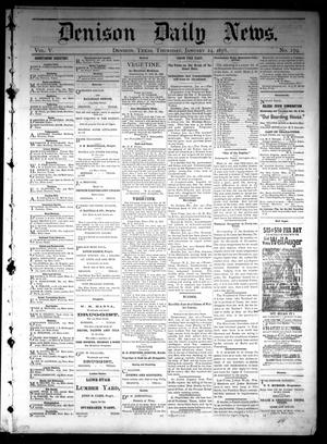 Primary view of object titled 'Denison Daily News. (Denison, Tex.), Vol. 5, No. 279, Ed. 1 Thursday, January 24, 1878'.