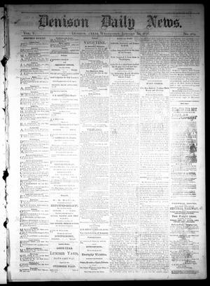 Primary view of object titled 'Denison Daily News. (Denison, Tex.), Vol. 5, No. 284, Ed. 1 Wednesday, January 30, 1878'.