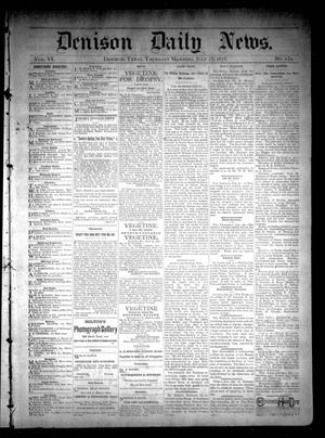 Primary view of object titled 'Denison Daily News. (Denison, Tex.), Vol. 6, No. 130, Ed. 1 Thursday, July 25, 1878'.