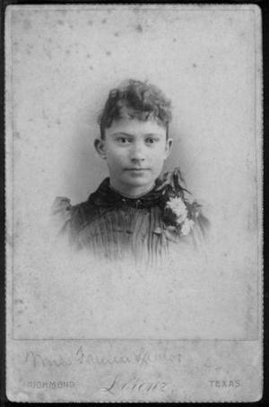 Primary view of object titled '[Fannie Lamar (Damon) as a young woman.]'.