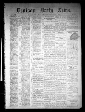 Primary view of object titled 'Denison Daily News. (Denison, Tex.), Vol. 6, No. 163, Ed. 1 Sunday, September 1, 1878'.