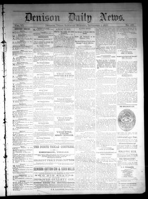 Primary view of object titled 'Denison Daily News. (Denison, Tex.), Vol. 6, No. 168, Ed. 1 Saturday, September 7, 1878'.