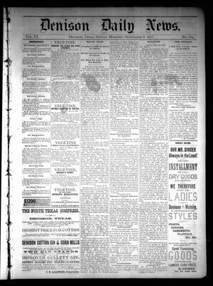 Primary view of object titled 'Denison Daily News. (Denison, Tex.), Vol. 6, No. 169, Ed. 1 Sunday, September 8, 1878'.