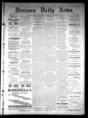 Primary view of object titled 'Denison Daily News. (Denison, Tex.), Vol. 6, No. 195, Ed. 1 Wednesday, October 9, 1878'.