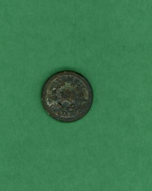 Primary view of object titled 'Copper button'.