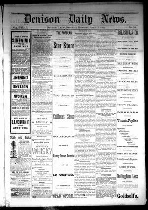 Primary view of Denison Daily News. (Denison, Tex.), Vol. 7, No. 38, Ed. 1 Saturday, April 5, 1879