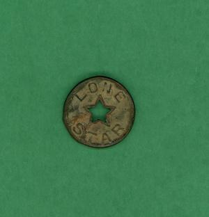 Primary view of object titled 'Brass button'.