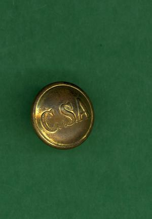Primary view of object titled 'Gold colored button'.
