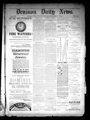 Primary view of object titled 'Denison Daily News. (Denison, Tex.), Vol. 7, No. 251, Ed. 1 Sunday, December 21, 1879'.