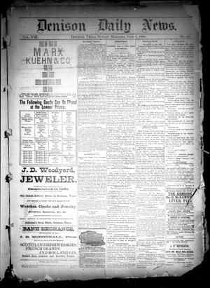 Primary view of object titled 'Denison Daily News. (Denison, Tex.), Vol. 8, No. 90, Ed. 1 Sunday, June 6, 1880'.