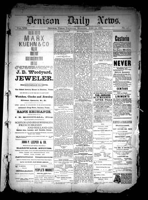 Primary view of object titled 'Denison Daily News. (Denison, Tex.), Vol. 8, No. 93, Ed. 1 Thursday, June 10, 1880'.