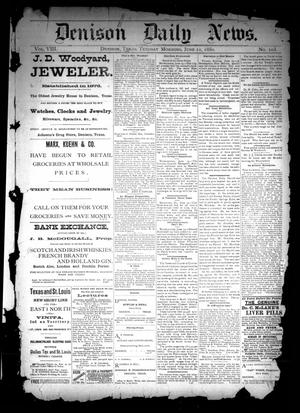 Primary view of object titled 'Denison Daily News. (Denison, Tex.), Vol. 8, No. 103, Ed. 1 Tuesday, June 22, 1880'.
