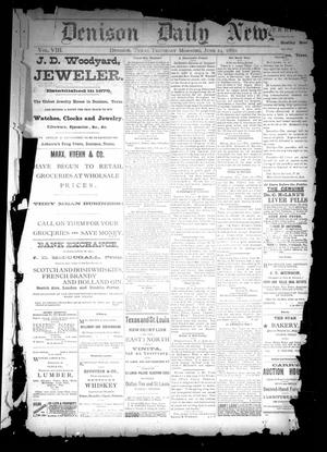 Primary view of object titled 'Denison Daily News. (Denison, Tex.), Vol. 8, No. [105], Ed. 1 Thursday, June 24, 1880'.