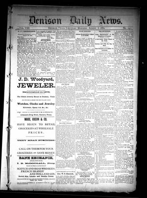 Primary view of object titled 'Denison Daily News. (Denison, Tex.), Vol. 8, No. 141, Ed. 1 Thursday, August 5, 1880'.