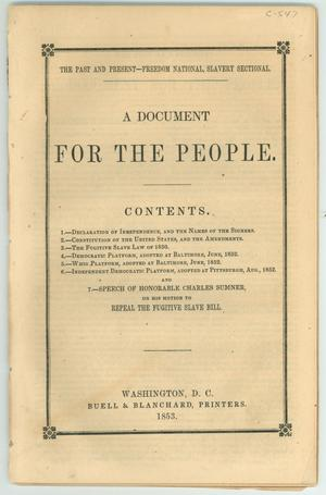 "Primary view of object titled '""A Document for the People""'."