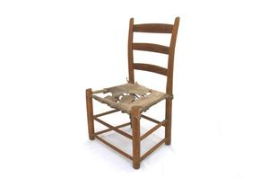 Primary view of object titled 'Ladder back chair'.