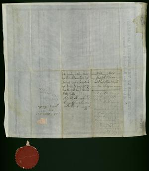 Primary view of object titled 'Land grant signed by Anson Jones'.