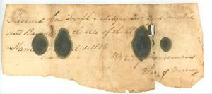 Primary view of object titled 'Receipt to Joseph Kilgore'.