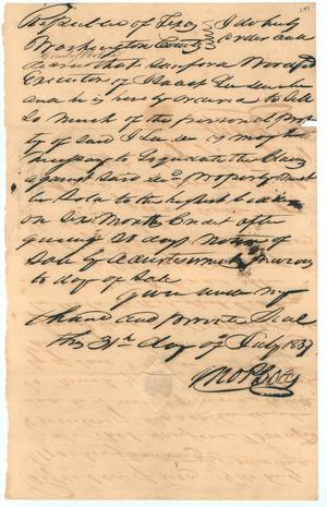 Primary view of object titled 'Washington County legal documents'.