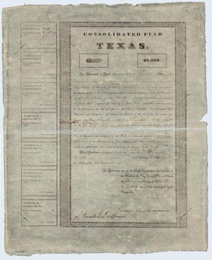 Primary view of object titled 'Government Bond'.