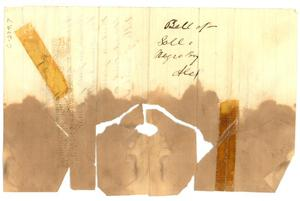 Primary view of object titled '[Bill of Sale to Alexander Simon from Cummings for a 13 year old slave named Alexander]'.