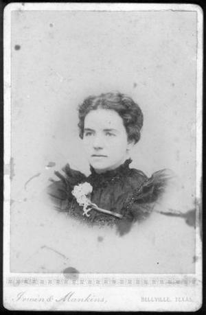Primary view of object titled '[Mrs. J. G. Wessendorff as a young woman.]'.