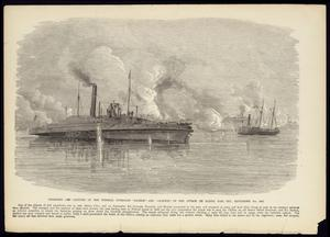 "Primary view of object titled '""Disabling and Capture of the Federal Gunboats 'Sachem' and 'Clifton' in the Attack on Sabine Pass, Texas, September 8th, 1863""'."