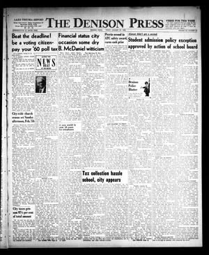 The Denison Press (Denison, Tex.), Vol. 32, No. 28, Ed. 1 Friday, January 22, 1960